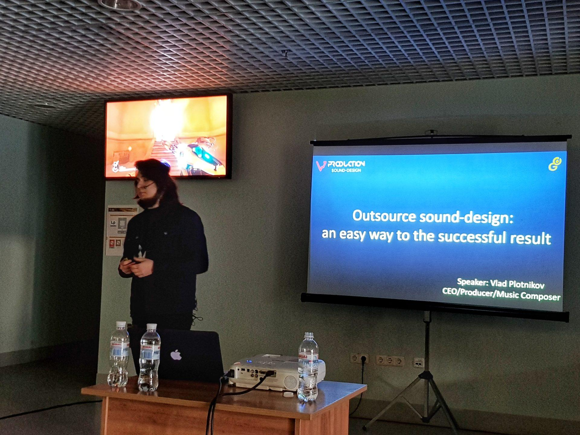 Lviv Gamedev Conference 2018: Vlad Plotnikov's session about outsource music & sound-design